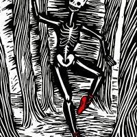 """Ilustração do livro """"Red Shoes"""" de Inês Cóias"""