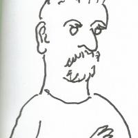 """<a href=""""http://www.chilicomcarne.com/index.php?option=com_rsgallery2&amp;Itemid=42&amp;catid=148""""><strong>Afonso Cortez</strong></a> desenhado por <strong><a href=""""http://www.chilicomcarne.com/index.php?option=com_rsgallery2&amp;Itemid=42&amp;catid=25"""">André Ruivo</a>&#160;</strong>(na Feira do Livro de Lisboa 2017)"""