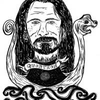 ilustração de Quorthon dos Bathory para Entulho Informativo
