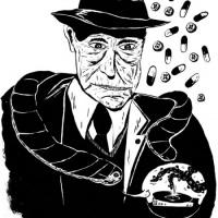 ilustração de William S. Burroughs para Entulho Informativo