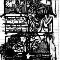 """Página 1 da bd publicada em """"Combate"""" (Ediciones Valientes; 2010) no âmbito da tour europeia da Chili Com Carne"""