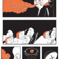 """pág. 1 da bd de <a href=""""http://www.chilicomcarne.com/index.php?option=com_rsgallery2&amp;Itemid=42&amp;catid=81"""">Gonçalo Duarte</a> na antologia """"Destruição ou bandas desenhadas sobre como foi horrível viver entre 2001 e 2010"""" (Chili Com Carne; 2010)"""