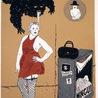 """a serigrafia """"Puta Prateada"""" de Joana Figueiredo para a colecção """"Comércio Tradicional"""" de Mike Goes West"""