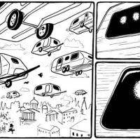 """Tira bd de Silas para """"Futuro Primitivo"""" (Colecção CCC #12, Chili com Carne; 2011)"""