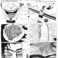 """Marcos Farrajota - Página de """"Noitadas, Deprês & Bubas"""" (col. Mercantologia, Chili Com Carne; 2008)"""