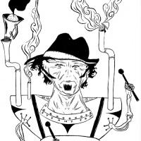 ilustração de Tom Waits para Entulho Informativo