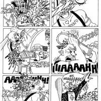 """Página da bd """"Inadaptados"""" publicada no Mesinha da Cabeceira #4 (Jan'04)"""