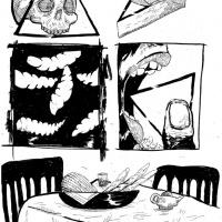 4ª página da bd publicada na antologia CRACK ON, por Ricardo Martins